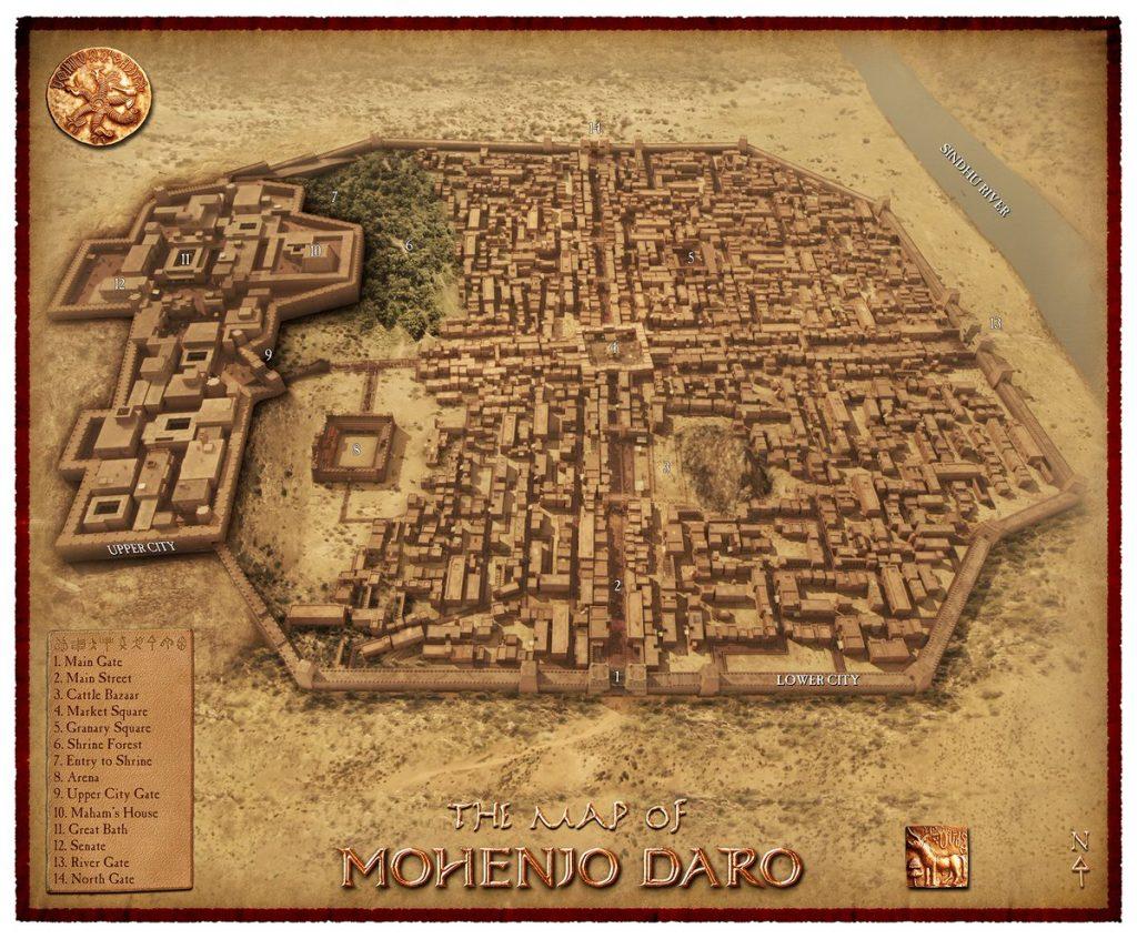 Mohanjo-Daro Map